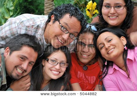 A group of Hispanic students