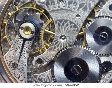 Macro Of Antique Pocket Watch Works
