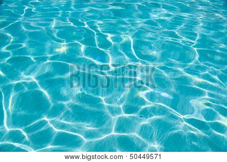blue sea water caustics