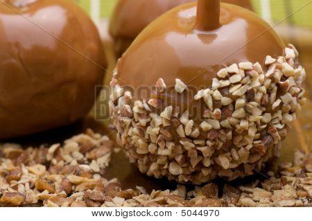 Manzanas de caramelo caramelo