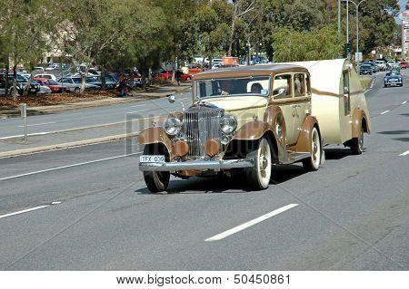 Car and Caravan.