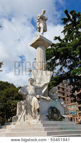 Monument To Giuseppe Mazzini (1882).  Genoa, Italy