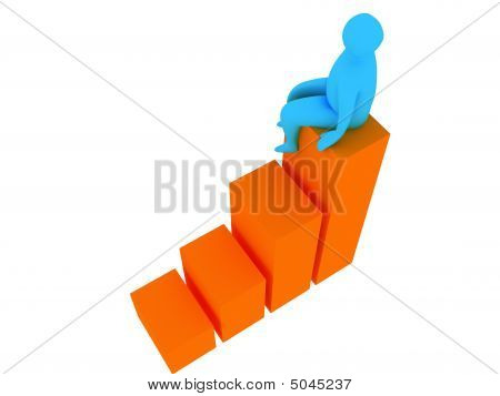 3D Abstract Person For Company Presentation
