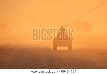 Agricultural Background - Way of Life and Golden Drive of the Tractor
