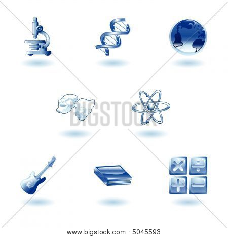 Glossy Category Education Web Icons