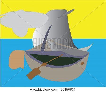 yacht, sail, oar,