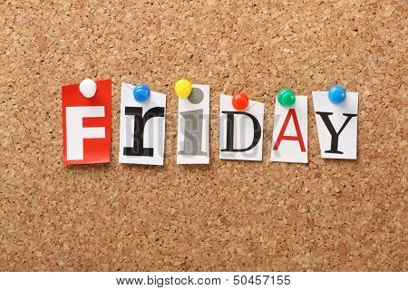 The word Friday
