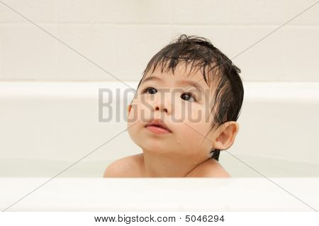 Baby In Bath Tub