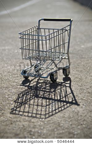 Shopping Cart On Alley