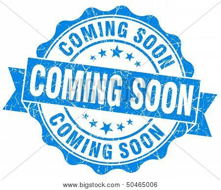 Coming Soon Grunge Stamp