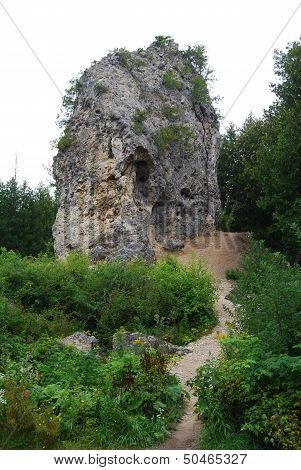Sugar Loaf Rock of Mackinac Island