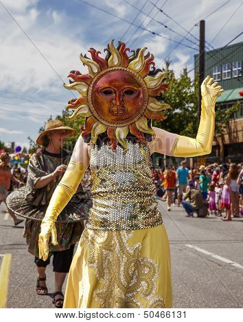 Sun Performer In Parade Ensemble