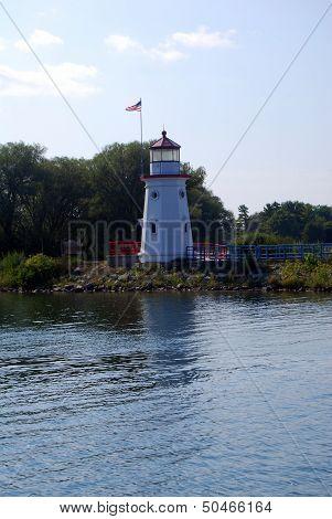The Cheboygan Crib Lighthouse