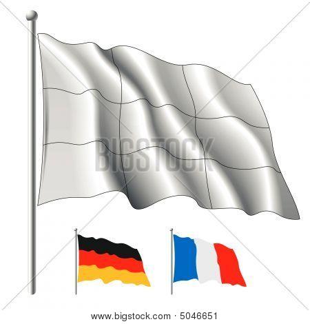 White Flag. Vector.