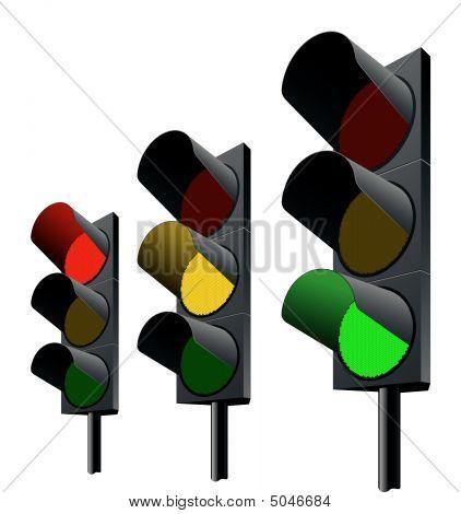 Traffic Lights. Vector.