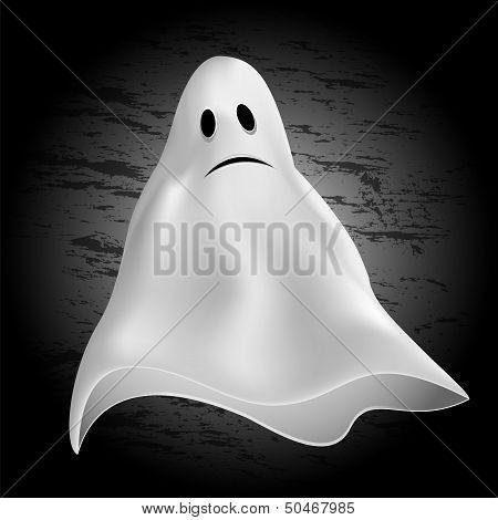 Halloween Background.ghost On A Dark Background.vector