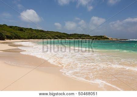 Beautiful Golden Sandy Beach At Half Moon Bay Antigua