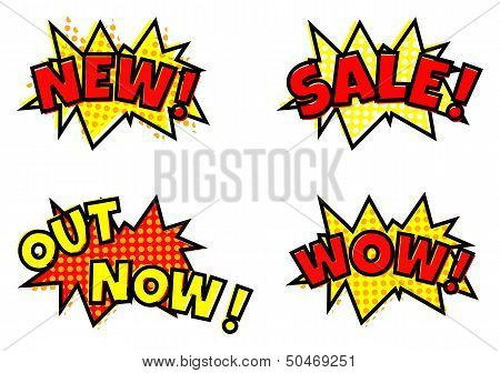 Sale Cartoon Balloon Bubbles