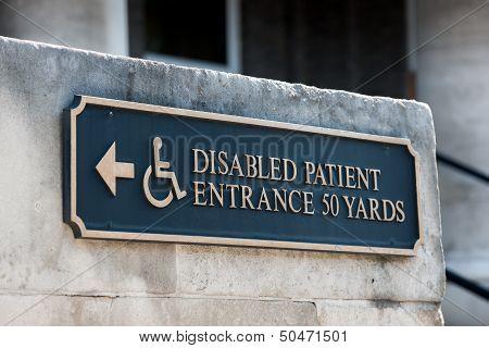 Disabled Handicap Entrance Entrance Sign