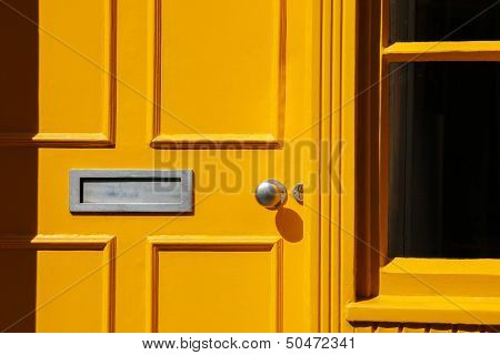 Traditional Georgian Architecture Yellow Doorway