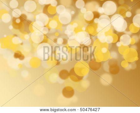 Golden And White Bokeh