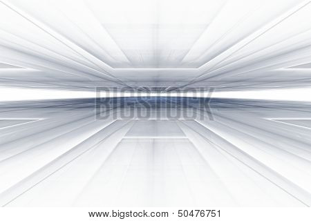 Horizontal Fractal On The White Background