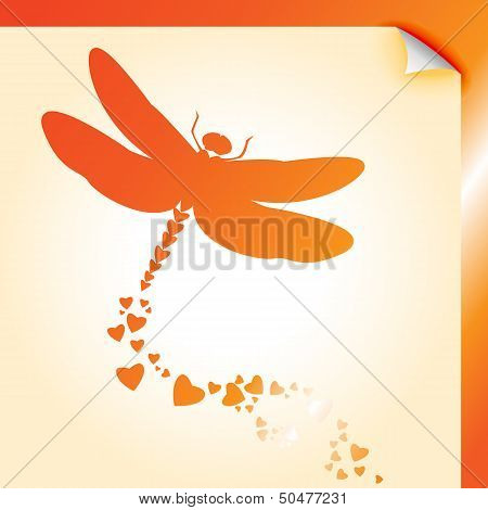 Dragongly Decal Orange