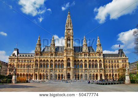 Viena, City hall. Austria