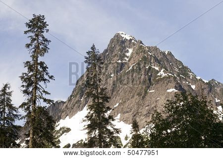 Rugged Jagged Peak North Cascade Mountain Range Washington State