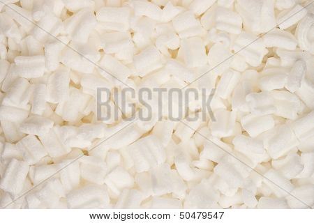 Background packing peanuts