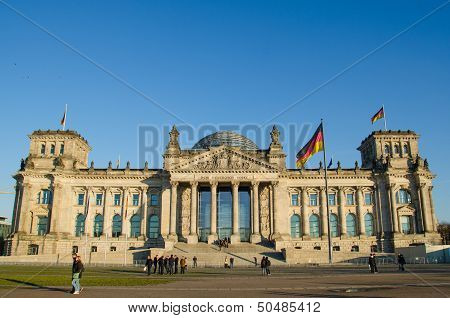 Reichstag (german parliament) building in Berlin, Germany