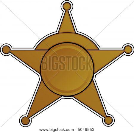 Sherriff Badge Vector