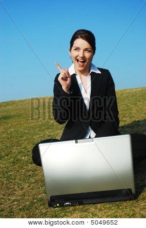 Businesswoman Gets An Idea