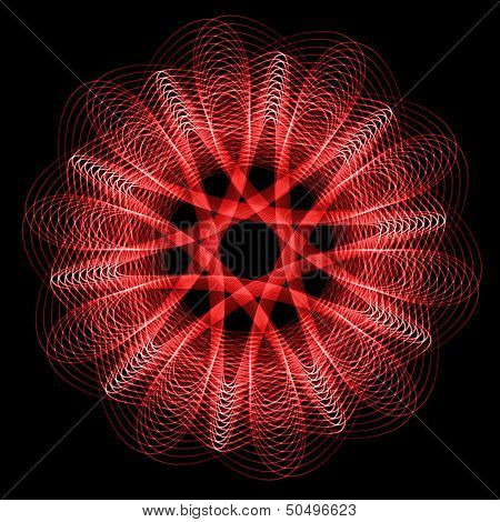Flower spirograph pendulum photo