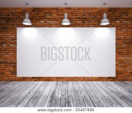 Banner on wall