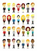 stock photo of work crew  - Cute Cartoon Business characters  - JPG