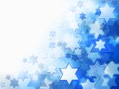 image of synagogue  - elegant jewish background with Magen David stars and place for text - JPG