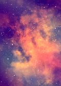 stock photo of nebula  - Far being shone nebula and star field against space - JPG