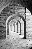 picture of urbanisation  - arcades below the amphitheatre at the former roman urbanisation of Xanten - JPG