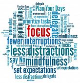 image of interrupter  - Focus at Work in word collage - JPG
