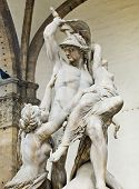 picture of rape  - The Rape of Polyxena sculpture by Pio Fedi in Loggia della Signoria - JPG