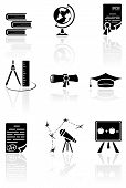 foto of calipers  - Set of black science icons on a white background - JPG