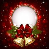 image of yule  - Background with Christmas bells - JPG