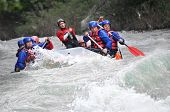 image of raft  - Rafting as extreme and fun team sport - JPG