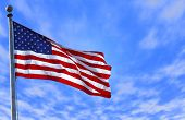 foto of american flags  - photo of an american flag - JPG