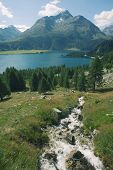 pic of engadine  - European alpine landscape  - JPG