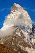 picture of italian alps  - Famous mountain Matterhorn  - JPG