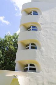 stock photo of albert einstein  - The Einstein tower in Potsdam at the science park in HDR - JPG
