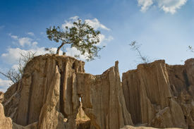 picture of groundwater  - Canyon in Thailand caused by collapsing groundwater - JPG