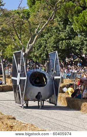 Lisbon, Portugal - September 09, 2011: Lisbon Red Bull Soapboax Race - 2 Grande Premio Red Bull. Star Wars - TIE fighter theme